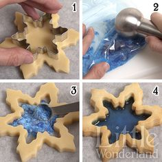 christmas cookies and candy Weihnachtspltzchen Tutorial: galletas de cristal / Stained glass cookies tutorial Galletas Cookies, Holiday Cookies, Cupcake Cookies, Sugar Cookies, Cupcakes, Snowflake Cookies, Frozen Cookies, Holiday Baking, Christmas Baking