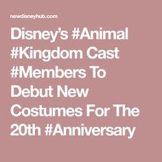 Disney's Cast To Debut New Costumes For The Disney Hub, 20th Anniversary, Epcot, Magic Kingdom, Animal Kingdom, It Cast, Costumes, Animals, Animales