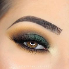 Stunning eye makeup for brown eyes