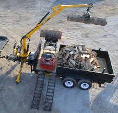 New Treeler Dump Trailer w/ Anderson Log Loader : Log Loaders / Knucklebooms Atv Dump Trailer, Log Trailer, Trailer Plans, Utility Trailer, Utv Trailers, Custom Trailers, Garage Tools, Car Tools, Big Rig Trucks