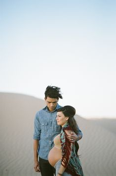Indie Maternity Session in the Sand Dunes - Inspired By This