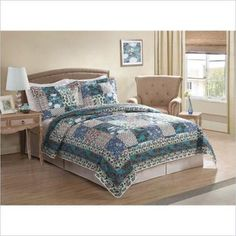 PEM America Groton Quilt Set in Patch Work Print-Full