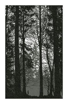 the rain had a sound - Dan McCarthy - 3 color screen print