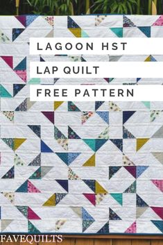 Create a pretty and chic modern quilt using charm squares! This HST lap quilt tutorial comes with diagrams for piecing a baby quilt or a lap quilt. Lap Quilt Size, Lap Quilts, Scrappy Quilts, Small Quilts, Mini Quilts, Quilt Blocks, Quilting Tutorials, Quilting Projects, Quilting Designs