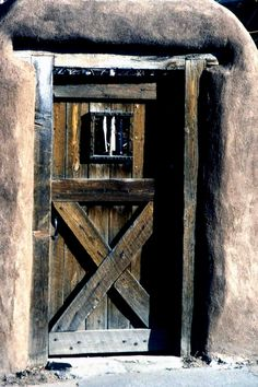 This is one of my favorite doors ever. Its from Santa Fe. It's rustic& simple