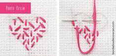 Aprenda a bordar dois pontos de cobertura que ajudam a criar texturas diferentes em seus bordados. Pontos versáteis que podem ser modificados de acordo com o efeito desejado.