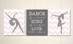 Please visit my shop: https://www.etsy.com/shop/PicabooArtStudio Dance art, girls wall art, dance like no ones watching, girls room art, teen