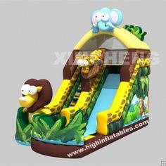 Inflatable safari slide