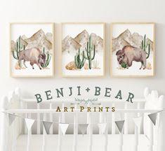 IF BOY.... Buffalo Nursey Prints Cactus Nursery Prints Cactus Wall Art   Etsy