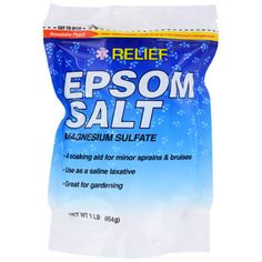 Add some Epsom Salt to your hot bath for some extra muscle relaxation. This 100% natural soaking aid is ideal for relieving minor soreness and stress. Great for relieving soreness from sports injuries