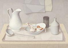 Stilleven in witten - J. van Tongeren - 1964  Maat: 65,5cm x 90,5cm  Materiaal: olieverf op doek  Inventarisnummer: K69259