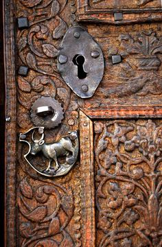 #Doors from around the world inspiration for your #renovation project. ~Carved Door | Rusttee door hardware http://www.myrenovationstore.com