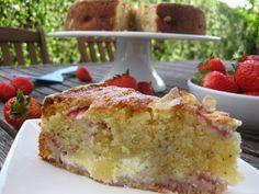 O Bolinho de Sábado: Bolo de Cheesecake de Morango