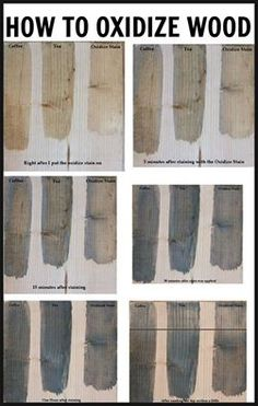 Oxidize wood to give your furniture a weather gray look! Easy and inexpensive to make recipe using vinegar and steel wool!