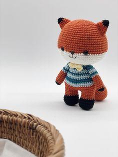 Crochet Bunny, Cotton Crochet, Crochet Hats, Little Panda, Little Fox, Crochet Toys Patterns, Stuffed Toys Patterns, Teddy Bear Crafts, Crochet Beaded Bracelets
