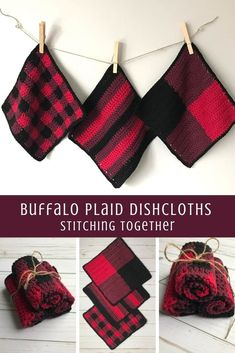 Crochet Projects Totally trendy buffalo plaid crochet dishcloth set that you can make with this free pattern! Wouldn't the buffalo plaid dishcloths make an amazing housewarming gift? Plaid Crochet, Knit Or Crochet, Crotchet, Crochet Humor, Crochet Mandala, Double Crochet, Crochet Gratis, Free Crochet, Knitting Patterns
