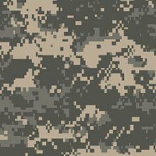 The Universal Camouflage Pattern (UCP), also referred to unofficially as ACUPAT (Army Combat Uniform Pattern) or Digital Camouflage (digicam), is a digital military camouflage pattern f