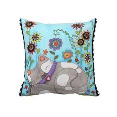 Cat Nap American MoJo Pillow