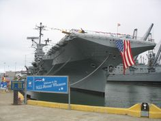USS Hornet - Alameda, CA  -- Ship is dressed for an event