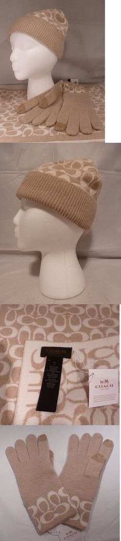 Mixed Items and Lots 15738: Nwt Coach Set Camel Vanilla Angora Cashmere Hat 86024,Gloves 86026, Scarf 86019 -> BUY IT NOW ONLY: $149 on eBay!