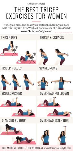 The Best Tricep Exercises for Women to Get Tight, Toned Arms - Tricep Exercises for women christinacarlyle…. The Best Tricep Exercises for Women to Get Tight, Toned Arms - Tricep Exercises for women christinacarlyle…. Triceps Workout, Best Tricep Exercises, Sixpack Workout, Tricep Workout Women, Fitness Exercises, Arm Exercises Women, Arm Exercises With Weights, Stomach Exercises, Tricep Dips