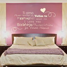 Le sticker i love you est une d claration d 39 amour murale for Stickers chambre love