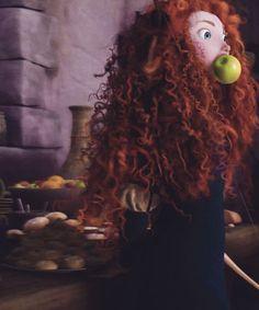 Brave 2012 Merida Eating Apple