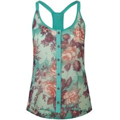 Lottie & Holly Floral Racerback Women's Sleeveless Top - Tilly's.