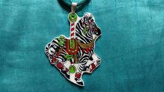Hey, I found this really awesome Etsy listing at https://www.etsy.com/listing/209211513/christmas-carousel-zebra-necklace