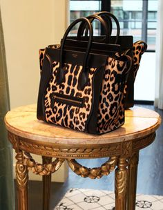 Celine leopard bag! I want you!