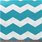 APT1-7 Turquoise & White Chevron Stripe Fabric