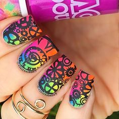 'clairestelle8' Steampunk Nail-Art #stamping #nailart♥≻★≺♥