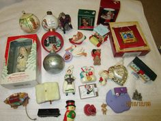 HALLMARK ORNAMENTS LOT 1979 - 2002 MIXED LOT TURKEY PIN MERRY MINIS VINTAGE