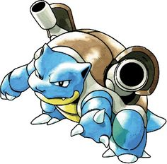 Ella's blastoise ocean. They live in the future. Ocean is overprotective to her trainer and she loves battling open