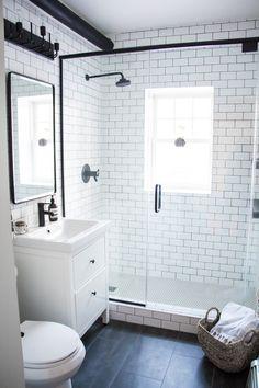 12 simple modern bathroom designs most of the amazing as gray and white bathroom ideas fashionable bathroom design small bathroom renovation ideas 2018 image of Bathroom Floor Tiles, Bathroom Colors, Bathroom Layout, Tile Floor, Shower Tiles, Tile Grout, Modern White Bathroom, Minimalist Bathroom, Bathroom Black