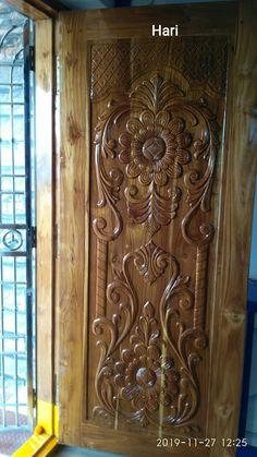 Wooden Front Door Design, Wooden Front Doors, Pooja Room Door Design, Door Design Interior, Main Entrance, House Entrance, Single Main Door Designs, Door Design Photos, Modern Wooden Doors