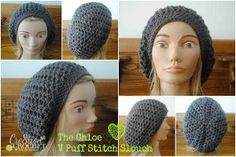 Pewter Puff Stitch Crochet Hat