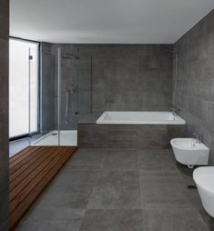 Best bathroom color – Home Decoration Wood Bathroom, Grey Bathrooms, Diy Bathroom Decor, Bathroom Interior Design, Interior Minimalista, Minimal Bathroom, Modern Bathroom, Minimalist Interior, Modern Interior