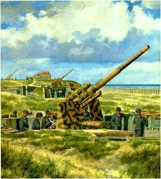 German eighty-eight flak battery