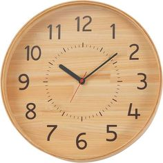 Woodem design clock for kaunet made from cypress thinning of Yui-no-Mori in Japan designed by Yuko Noguchi