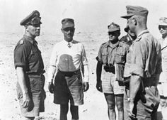 Rommel at a staff conference in the Western Desert.