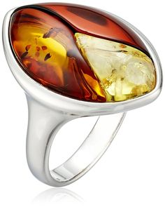 Rhodium Plated Sterling Silver Multicolor Amber Inlay Ring, Size 7 *** Learn more by visiting the image link. (This is an Amazon Affiliate link and I receive a commission for the sales)