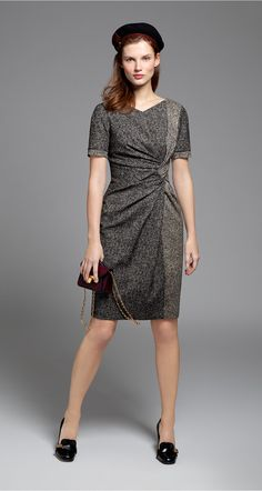 Tweed jacquard dress - Dresses - Fall 2015 - New Collection
