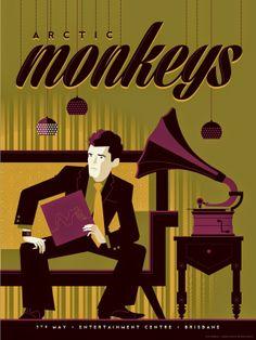 Tom Whalen Arctic Monkeys Sydney & Brisbane Poster World Premiere Exclusive