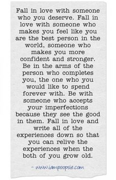 Fall in love with someone...