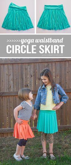 DIY Yoga Waistband CIRCLE SKIRT...so simple, so cozy!   via Make It and Love It