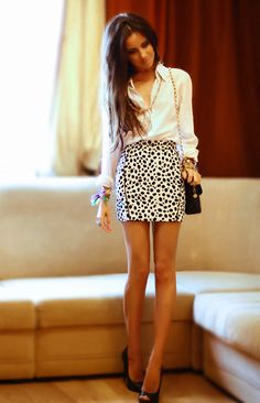 Oxford and skirt