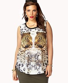 Mirrored Jaguar Muscle Tee (great with a blazer or cardigan)