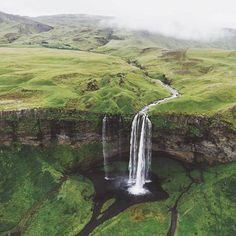 Fairytale Waterfall at Seljalandsfoss in Iceland. Places Around The World, Oh The Places You'll Go, Places To Travel, Travel Destinations, Places To Visit, Around The Worlds, All Nature, Iceland Travel, Adventure Is Out There
