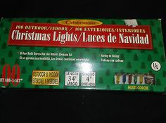 make me an offer !!!100-Multi-Color-Mini-Christmas-Tree-Lights-34-Decoration-Outdoor-Indoor-4-Sets